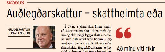 Auðlegðarskattur- skattheimta eða eignaupptaka?