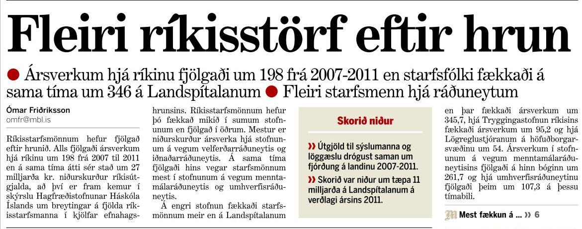 Embættismenn í stað heilbrigðisstarfsmanna